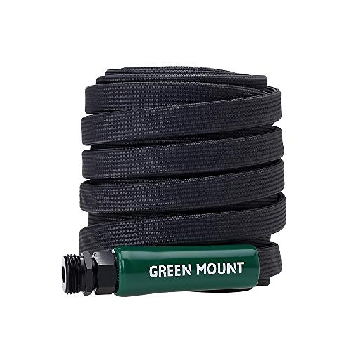GREEN MOUNT New Powerful Flat Garden Hose, 600 PSI High Pressure Washer Hose, 50 Feet Upgraded Lightweight Water Hose, Perfect for Household and Professional Use