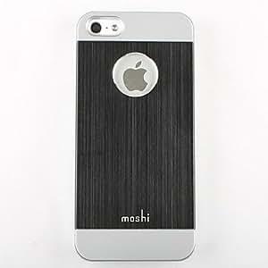 (CASEI)Hi-Q Double Color Fashion Metal Plastic Hard Case for iPhone 5/5S(Assorted Colors) , White