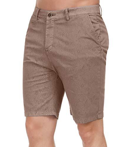 (PAUL JONES Men's Lightweight Casual Pants Above The Knee Twill Cargo Shorts, Khaki, 32)