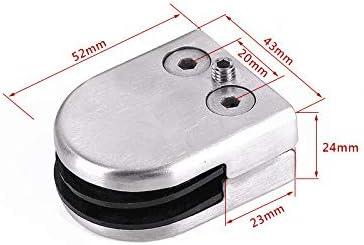 YUNRUX - Pinza para cristal de 8-10 mm, 20 unidades, soporte de acero inoxidable, pinza ajustable, soporte de cristal, parte trasera plana para escalera de rejilla de equilibrio, pasamanos: Amazon.es: Bricolaje y herramientas