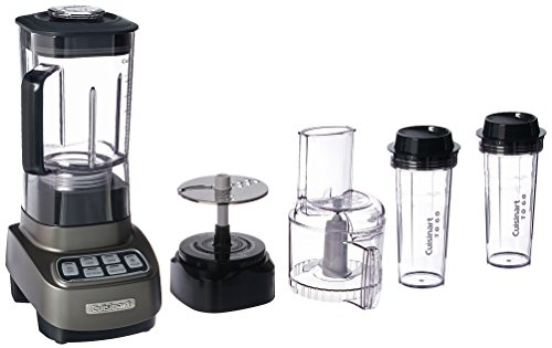 Cuisinart BFP-650GM Velocity Ultra Trio 1 HP Blender/Food Processor with Travel Cups, Gun Metal (Trio Dynamic)