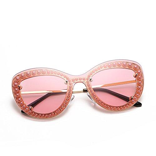 TL Mujer Caramelos Color de de Verde Perla Gafas de Señor de la Verano Sol la de con Sol Regalo Rosa Gafas UV400 Playa el Amarillo Sunglasses Mujer para de rqUtxw5rP