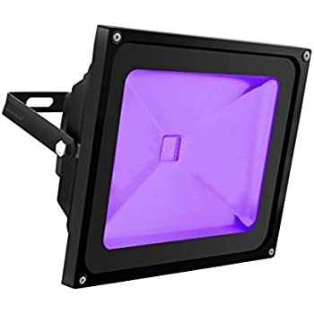 UV Light Black Light, HouLight High Power 50W Ultra Violet UV LED Flood Light IP65-Waterproof (85V-265V AC) for Blacklight Party Supplies, Neon Glow, Glow in the Dark, Fishing, Aquarium, Curing