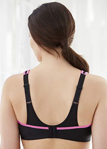 Glamorise Women's Plus Size No-Bounce Full-Support Sport Bra, Black, 34F by Glamorise (Image #2)