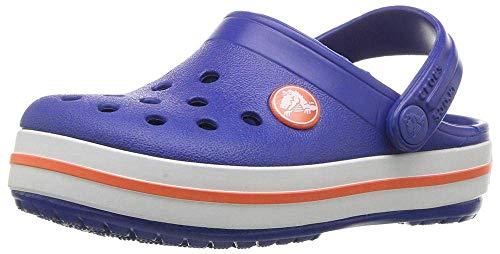 Crocs Kids' Crocband Clog, Cerulean Blue, 8 M US Toddler