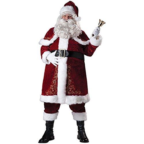 MutterMui Santa Costume Adult Santa Claus Suit Christmas Fancy Dress X-Large (Old Time Santa)