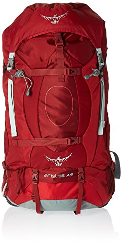Osprey Packs Women's Ariel AG 55 Backpack, Picante Red, Medium