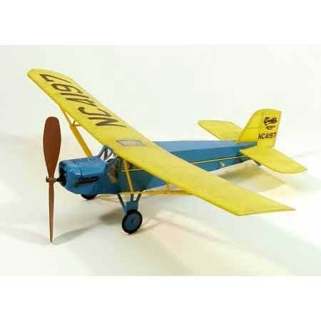 "Dumas Curtiss Robin, 17.5"" Rubberband Powered Airplane Model"