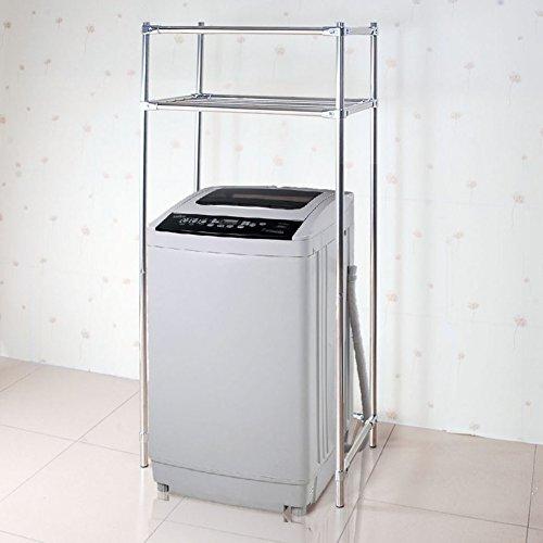 Stainless steel washing rack/Bathroom/toilet storage rack/Floor washing machine/sorting rack-B durable modeling