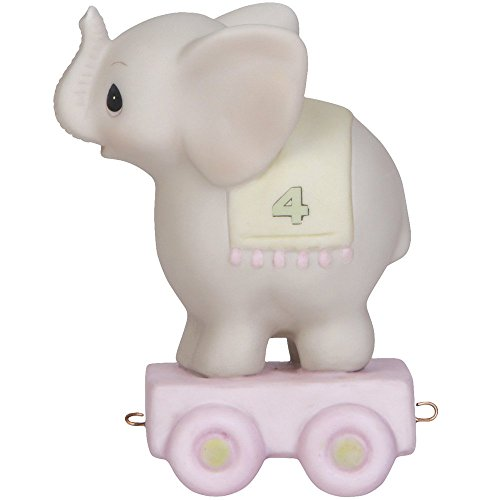 - Precious Moments,  May Your Birthday Be Gigantic, Birthday Train Age 4, Bisque Porcelain Figurine, 142024
