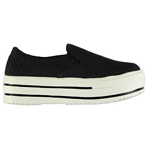 Bernie Mev Verona plate-forme Chaussures à enfiler pour femme Noir Baskets Sneakers Chaussures