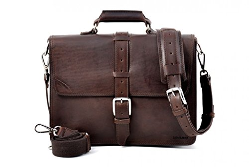 Borlino Vachetta Classic Briefcase Walnut, Dark Brown
