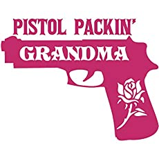 Pistol Vinyl Decal Tumbler Cup Decal Car Window Bumper Sticker Made in USA