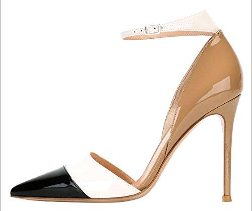 Nude Tacco Eleganti Scarpe con Scarpe Lavoro e a elegante Lavoro for Wedding versatile ScarpeLeggera Scarpe Medio Ruanlei donna alto color High Heels tacco XxqvW81
