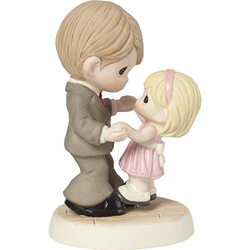 (Precious Moments Father Daughter You're Here for Me Every Step of The Way Bisque Porcelain 183006 Figurine One Size Multi )
