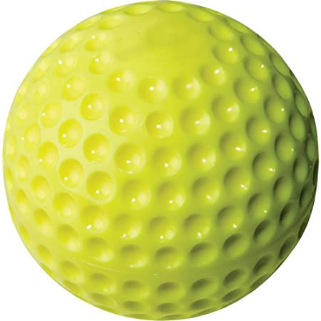 """Pack of 12 Rawlings PMY12 12/"""" Yellow dimple pitching machine ball"""