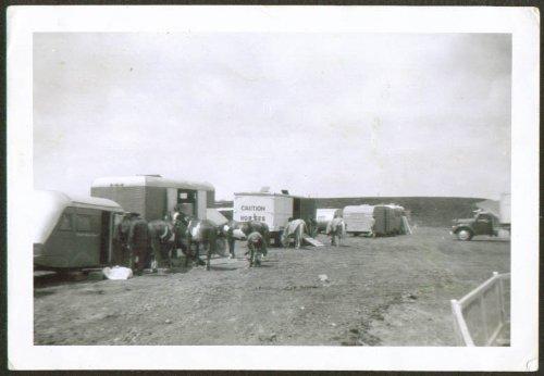 Horse wagons Kelly-Morris Circus photo (Morris Wagon)