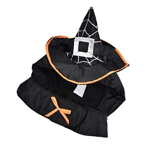 Taka Co Dog Halloween Costume Funny Cat Costume Wizard Suit Cat Clothes Halloween Costume Dog Clothes Suit Dressing Up Cosplay Party Clothing for Cat
