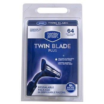 - Berkley Jensen Men's Twin-Blade Disposable Razor, 64 ct. AS
