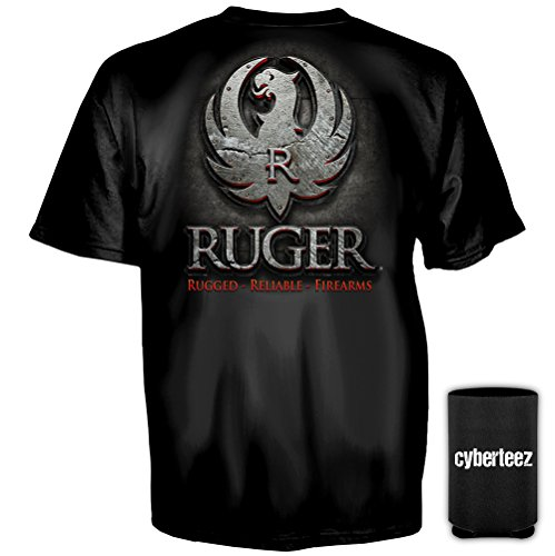 Ruger Sturm (Sturm Ruger & Co Metal Eagle Logo T-Shirt + Coolie (L))