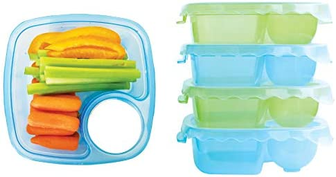 Snacks Pot Small Lunch Box Food Container Child/'s Kids Picnic Box Blue Green