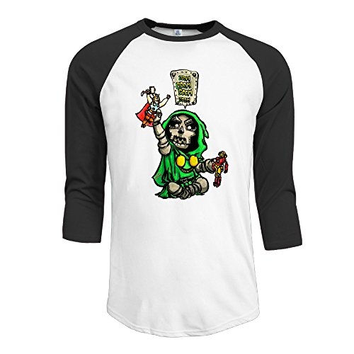Doctor+Doom+shirts Products : Cotton Men's Doctor Doom Comics Archenemy 3/4 Sleeve Baseball Tee Shirts