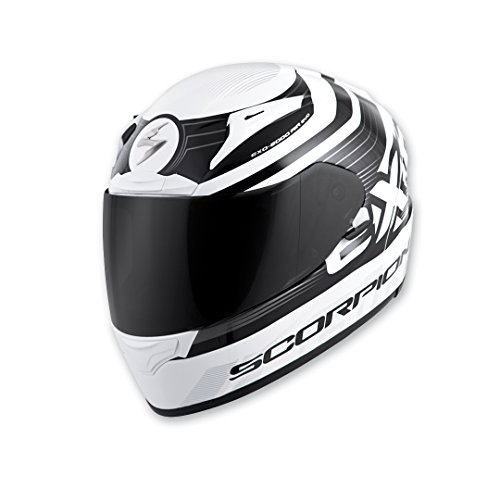 Scorpion Full Systems (Scorpion EXO EXO-R2000 White/Black Fortis Full Face Helmet, L)