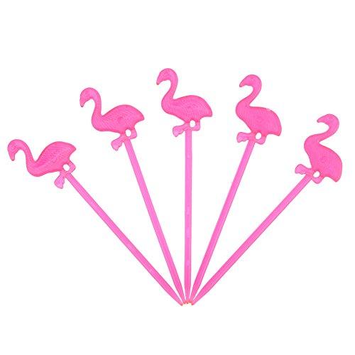 BUNITA,50pcs Plastic Forks Flamingo Reusable Pick Toothpick Bento Bar Kids Dessert Forks Tableware Party Supplies Kitchen Accessories,toothpick party - Kitchen Bridge Mixer