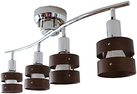 モダンデコ 照明 シーリングライト 8畳対応 LED電球対応 天井照明 スポットライト 【Lucas】 (ブラウン)