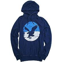 American Eagle Men's Signature Graphic Pullover Hoodie 022 (Medium, Navy)