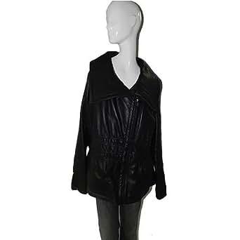 Amazon.com: Baby Phat Leather Winter Coat in black, 1196BP