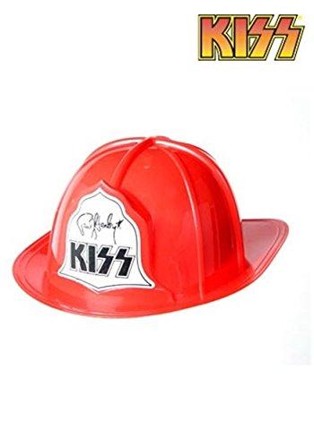 Adult Plastic KISS Fire Hat Adults Plastic Fire Hat