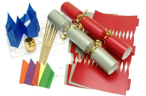 6 x make your own 14 red silver christmas cracker kits x 6 6 x make your own 14quot red silver christmas cracker kits solutioingenieria Choice Image