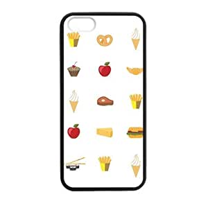 Cake Fast Food Case for iPhone 5 5s protective Durable black case