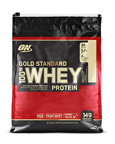 OPTIMUM NUTRITION Gold Standard 100% Whey Protein Powder, Vanilla Ice Cream, 10 - Swole Protein