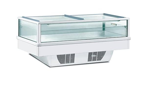 framec nevera y congelador Isla globallight 200 Silver: Amazon.es ...