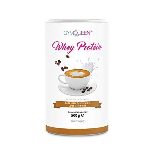GymQueen Whey Protein-Pulver Café-Latte 500g, Protein-Shake für die Fitness, Whey-Pulver kann den Muskelaufbau…
