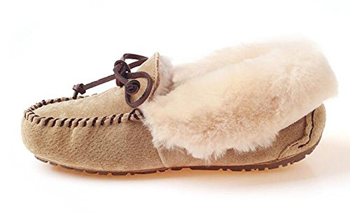 Paux Peas Women's Sheepskin Chestnut UGG Ozwear Shoes aS4Px