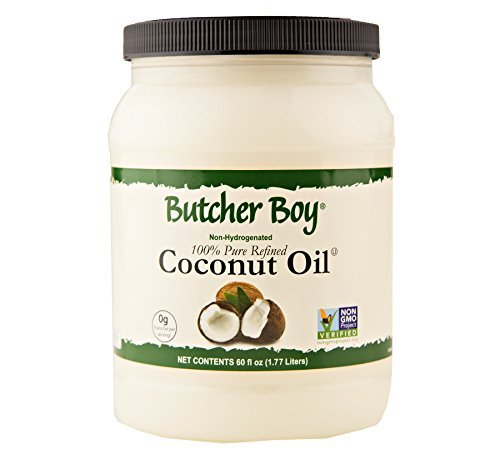 Butcher Boy 76°f 100% Pure Refined Coconut Oil 60 Oz. (60 Oz. X 1 Container)