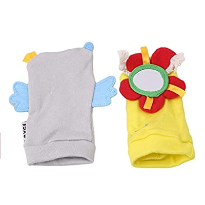 Myhouse Baby Socks Baby Animal Socks with Rattle Bell Socks Newborn Baby Toys (Flower Owl): Clothing