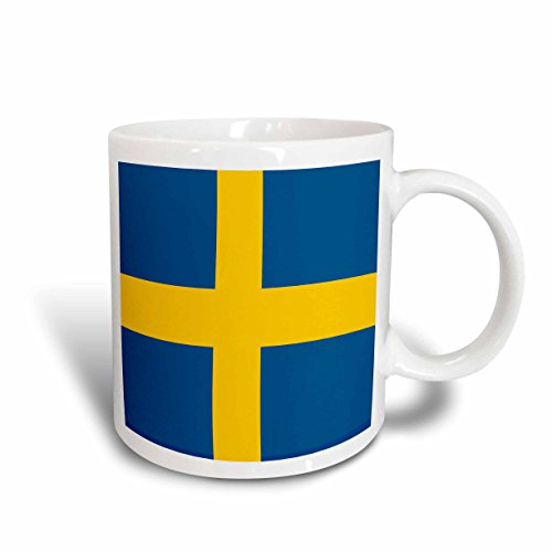 (3dRose Sweden Flag Ceramic Mug, 15-Ounce)