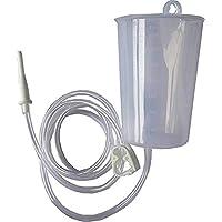 PrimeStore Plastic Non-Sterile Kit Enema Can with 1 Silicon Colon Tip, 1 PVC Tube, 1 Pinch Clamp and 1 Nozzle