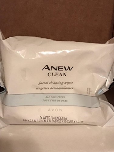 Facial Cleansing Wipes 24 Avon Clean Anew (Avon Facial Wipes)