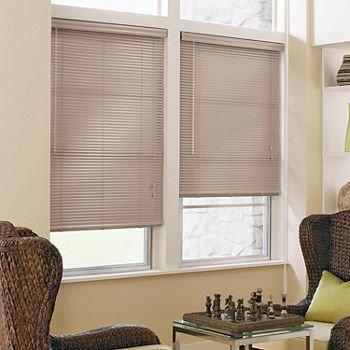 "Price comparison product image JCPenney Home Custom 1"" Aluminum Horizontal Blinds Mocha (36W"" X 54H"",  Mocha)"