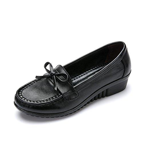 Zapatos de mujer Asakuchi/Medias y zapatos de las mujeres de edad/Mamá y fondo suave zapatos/Zapatos de las mujeres C
