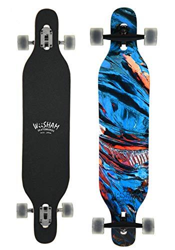WiiSHAM Professional Speed Drop Down Complete Longboard Skateboard(42 Inches) (17)