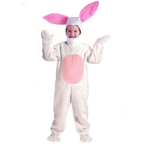 BUNNY SUIT CHILD 6 8 WHITE (Bugs Bunny Costume For Kids)