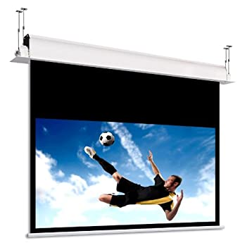 Pantalla de techo para proyector motorizada 290 cm Microforato hd ...