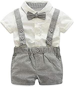 Bebé Bebé Niño Caballero Traje Pajarita Camisa Camisa + ...