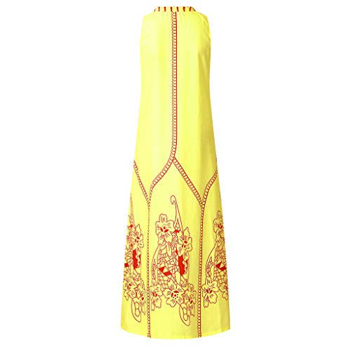Yxiudeyyr Women Mini Dress Graduation Casual Prom Dress Summer Vintage Sleeveless Floral Print Boho Tank Sundress